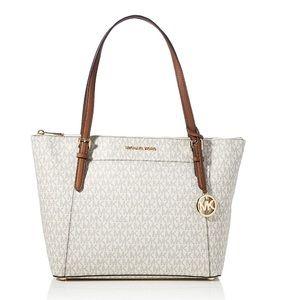 Michael Kors Ciara Large Top Zip Leather Tote Bag